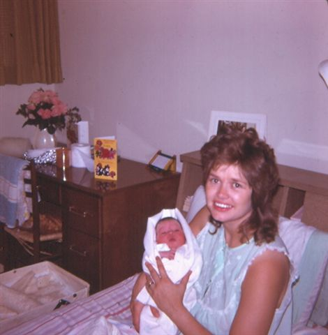 1973 - My mom gives birth to my sister