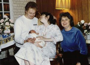 1984 - Hoem birth for my daughter Anastasia