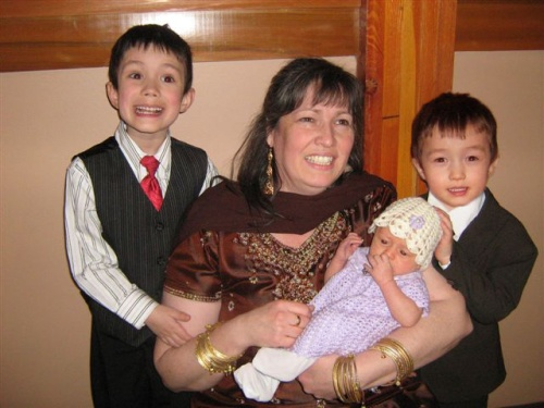 Nancy Johnson and her home-grown grand-babies
